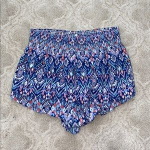 colorful patterned flows shorts